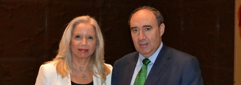 Nicolás Guisado, Presidente de ANPE, y Carmen Sanz